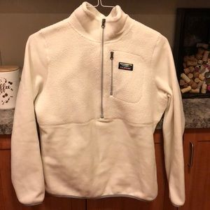 L.L Bean white cozy fleece, size medium